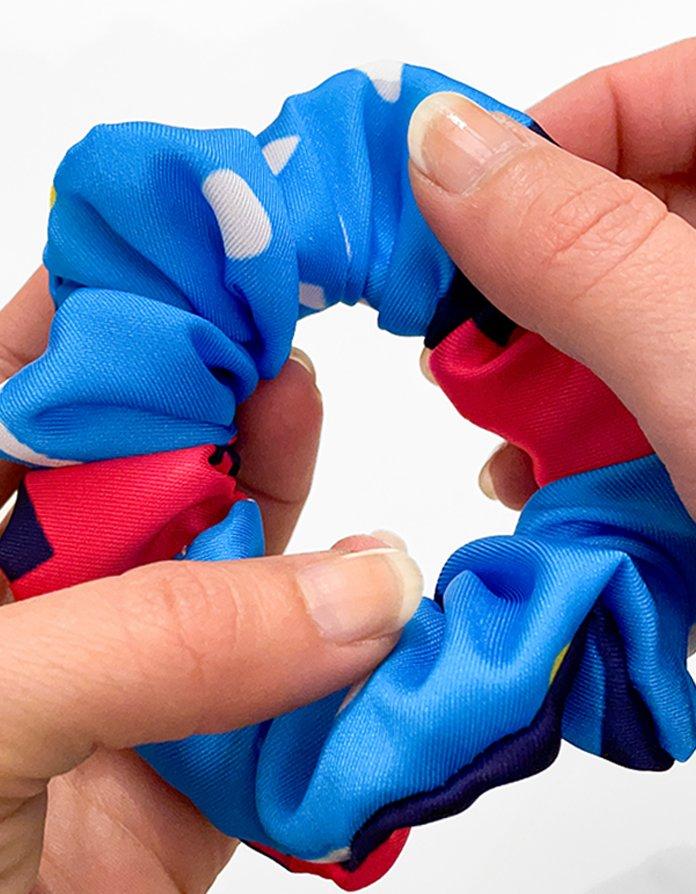 scrunchie bluebell dettaglio